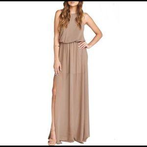 Show me your mumu chiffon halter dress
